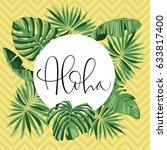 summer party beach poster....   Shutterstock .eps vector #633817400