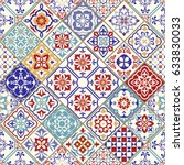 seamless ceramic tile with... | Shutterstock .eps vector #633830033