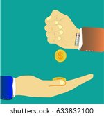 hand with count give other hand ... | Shutterstock .eps vector #633832100