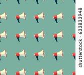 loudspeaker pattern  megaphone... | Shutterstock .eps vector #633833948