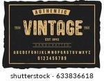 font. alphabet. script.... | Shutterstock .eps vector #633836618