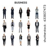 diverse business people set... | Shutterstock . vector #633837473