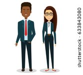 business people avatars... | Shutterstock .eps vector #633843080