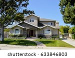 typical home in the suburbs of ... | Shutterstock . vector #633846803