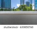 empty asphalt road front of... | Shutterstock . vector #633850760