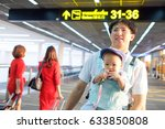 smiling asian father holding...   Shutterstock . vector #633850808