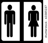 toilet male and female sign | Shutterstock . vector #63385237