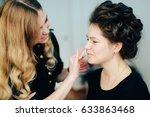 stylist working in a beauty... | Shutterstock . vector #633863468