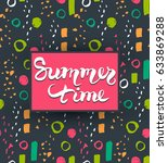 summer vector card.trendy... | Shutterstock .eps vector #633869288