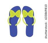 slippers female multicolored...   Shutterstock .eps vector #633869810