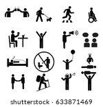 human pictogram set vector... | Shutterstock .eps vector #633871469