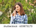 portrait of a beautiful girl... | Shutterstock . vector #633873173