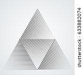vector hipster triangle... | Shutterstock .eps vector #633882074