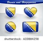 glossy bosnia and herzegovina... | Shutterstock .eps vector #633884258