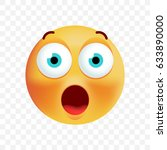 cute surprised emoticon on... | Shutterstock .eps vector #633890000
