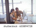businessman and businesswoman... | Shutterstock . vector #633894728