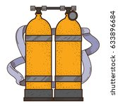 diving cylinders illustration... | Shutterstock .eps vector #633896684