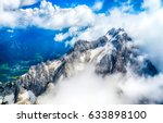 mountain cloud top view... | Shutterstock . vector #633898100