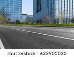 empty asphalt road front of... | Shutterstock . vector #633905030