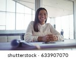 portrait of young businesswoman ... | Shutterstock . vector #633907070