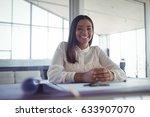 portrait of young businesswoman ... | Shutterstock . vector #633907070