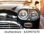 headlight lamp black vintage... | Shutterstock . vector #633907670