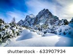 snow mountain landscape | Shutterstock . vector #633907934