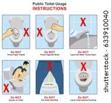public toilet usage... | Shutterstock .eps vector #633910040