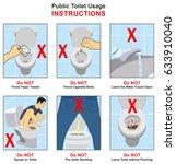 public toilet usage...   Shutterstock .eps vector #633910040