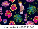 summer night. seamless vector... | Shutterstock .eps vector #633911840