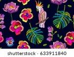 summer night. seamless vector... | Shutterstock .eps vector #633911840