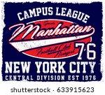 athletic dept. new york ... | Shutterstock . vector #633915623