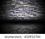 urban grunge abstract interior... | Shutterstock . vector #633922700