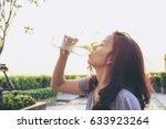 portrait of young beautiful... | Shutterstock . vector #633923264