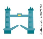 bridge london icon flat vector... | Shutterstock .eps vector #633924788