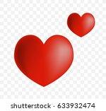 cute heart on white background. ... | Shutterstock .eps vector #633932474