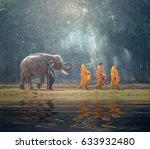 Thailand Buddhist Monks Walk...