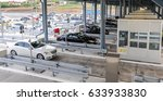 drivers pays road toll on... | Shutterstock . vector #633933830