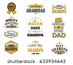isolated grandfathers quotes on ... | Shutterstock .eps vector #633934643