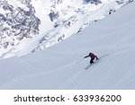 ten year old skier making... | Shutterstock . vector #633936200