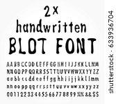 vector double handwritten ink... | Shutterstock .eps vector #633936704
