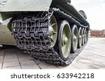 tank tracks. a tank of the...   Shutterstock . vector #633942218