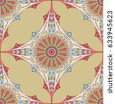 colorful ethnic patterned... | Shutterstock .eps vector #633945623