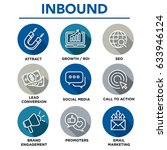 inbound marketing vector icons... | Shutterstock .eps vector #633946124