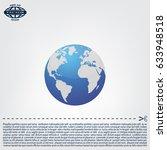 world globe vector illustration. | Shutterstock .eps vector #633948518