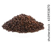 piles of coffee beans isolated... | Shutterstock . vector #633953870