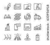 news related vector line icon... | Shutterstock .eps vector #633956918