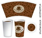 vector template paper cup for... | Shutterstock .eps vector #633960914