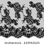 seamless vector black lace... | Shutterstock .eps vector #633962624