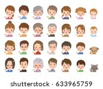 people pose | Shutterstock .eps vector #633965759